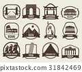 World landmarks flat icon set. Travel and Tourism 31842469