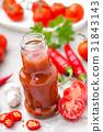 Tomato ketchup, chilli sauce, tomatos puree 31843143