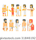 Ancient egyptian people set cartoon design 31846192