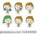 Set of Cartoon Doctor, Vector illustration 31846984