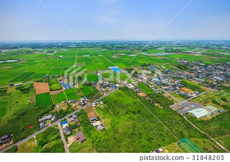 Aerial view of Asahi-shi Nakatani-ri, Chiba Prefecture 31848203