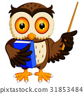 owl in the graduate's carrying book 31853484