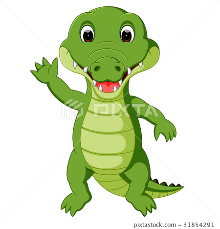 Cute crocodile cartoon 31854291