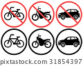 bicycle, parking, forbid 31854397