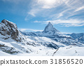 Scenic view on snowy Matterhorn peak 31856520