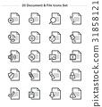 file, icon, set 31858121