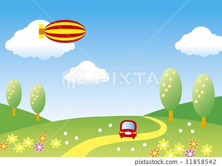 행락, 산, 자동차 31858542
