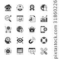 SEO & internet icons set 2 on white background 31860226