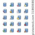 เวกเตอร์,ข้อมูล,ไอคอน 31860686