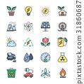icon, power, vector 31860687