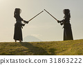 劍道女孩和富士山 31863222