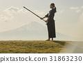 劍道女孩和富士山 31863230