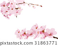 Cherry blossom vector background.Pink flower 31863771