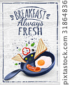 poster with plates of fried and scrambled eggs on 31864836