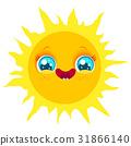 sun, vector, smile 31866140