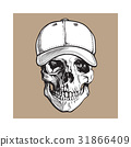 skull, vector, white 31866409