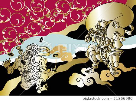 일본식 디자인 풍신 뇌신도 31866990