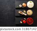 tomato sauce, mayonnaise and mustard in bowl 31867142