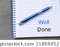 Well done text concept on notebook 31869452
