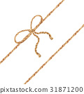 Watercolor illustration. The bow-knot of the linen 31871200
