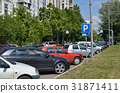 Parked Cars on a Street 31871411