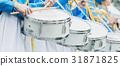 drum, row, uniform 31871825