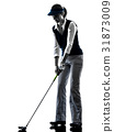 高尔夫 高尔夫球手 侧影 31873009
