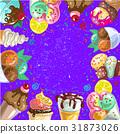 illustration, ice, cream 31873026