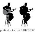 Guitar player sitting on a bar stool 31873037