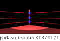 Spotlight in boxing ring 31874121