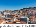 Aerial view of the red roofs of Alfama 31874800
