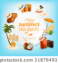 Summer Vector Banner Design with Vacation Related 31876493