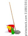 Cleaning products and mop with bucket 31881501