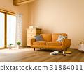 客廳 米黃色 沙發 31884011