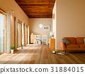 客厅 米黄色 室内装饰 31884015