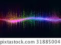 Sound Wave Background.Digital energy sound music  31885004