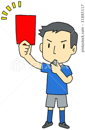 Red card referee 31885117