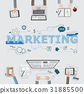 Marketing team meeting for brainstroming business 31885500