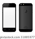 mockup, back, smartphone 31885977