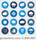 Vector weather forecast icon set 31885983