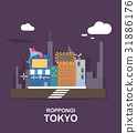 Roppngi fantastic city in Tokyo illustration 31886176