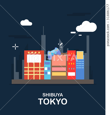 Shibuya tokyo tourist attraction in the Japan 31886177