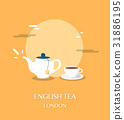 English tea at museum in London illustration 31886195