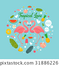 love, tropical, design 31886226
