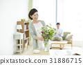成熟的女人 一個年輕成年女性 女生 31886715