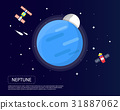 Neptune and Pluto of solar system  31887062