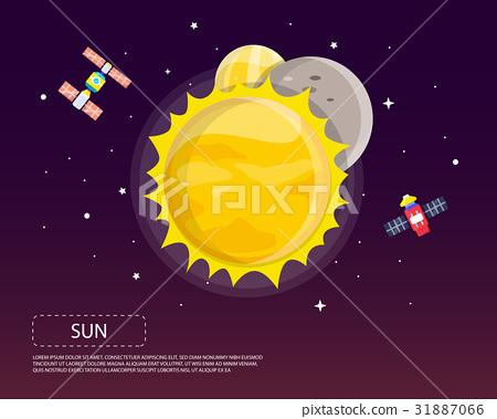 Sun Mercury and Venus of solar system 31887066