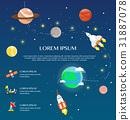 Traveling around solar system by spaceship 31887078