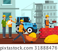 Construction Workers Characters Flat Poster 31888476