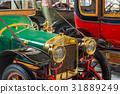 Vintage car - technology background 31889249